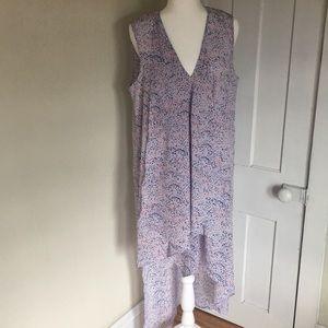 BCBG V-Neck Asymmetrical Avery Dress - Large